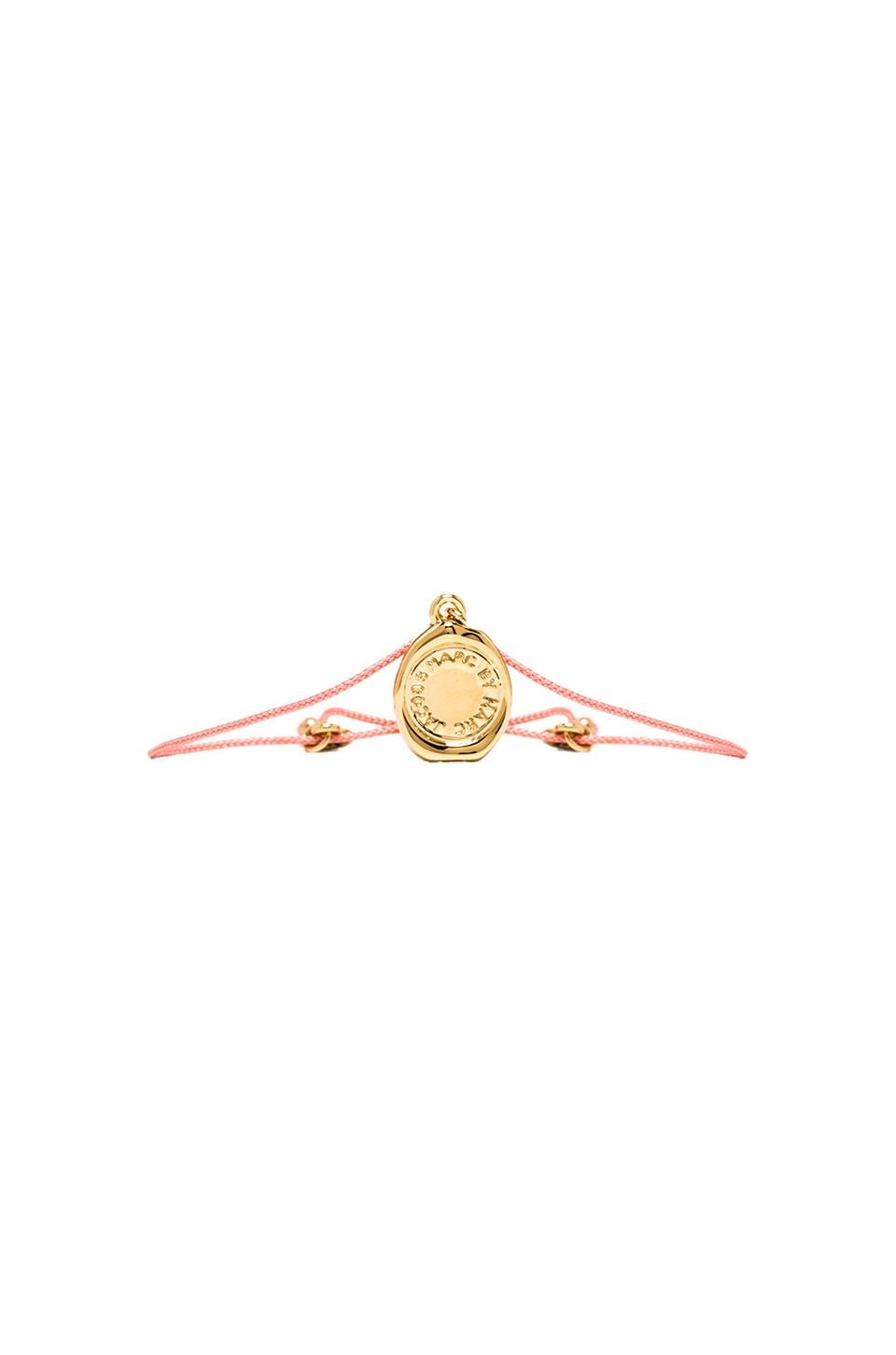 Marc by Marc Jacobs Grab & Go Stamped Friendship Bracelet in Fluoro Coral & Oro