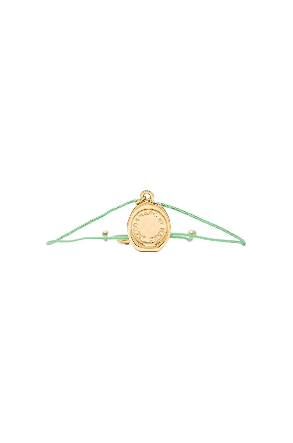 Marc by Marc Jacobs Grab & Go Stamped Friendship Bracelet in Fluoro Mint & Oro