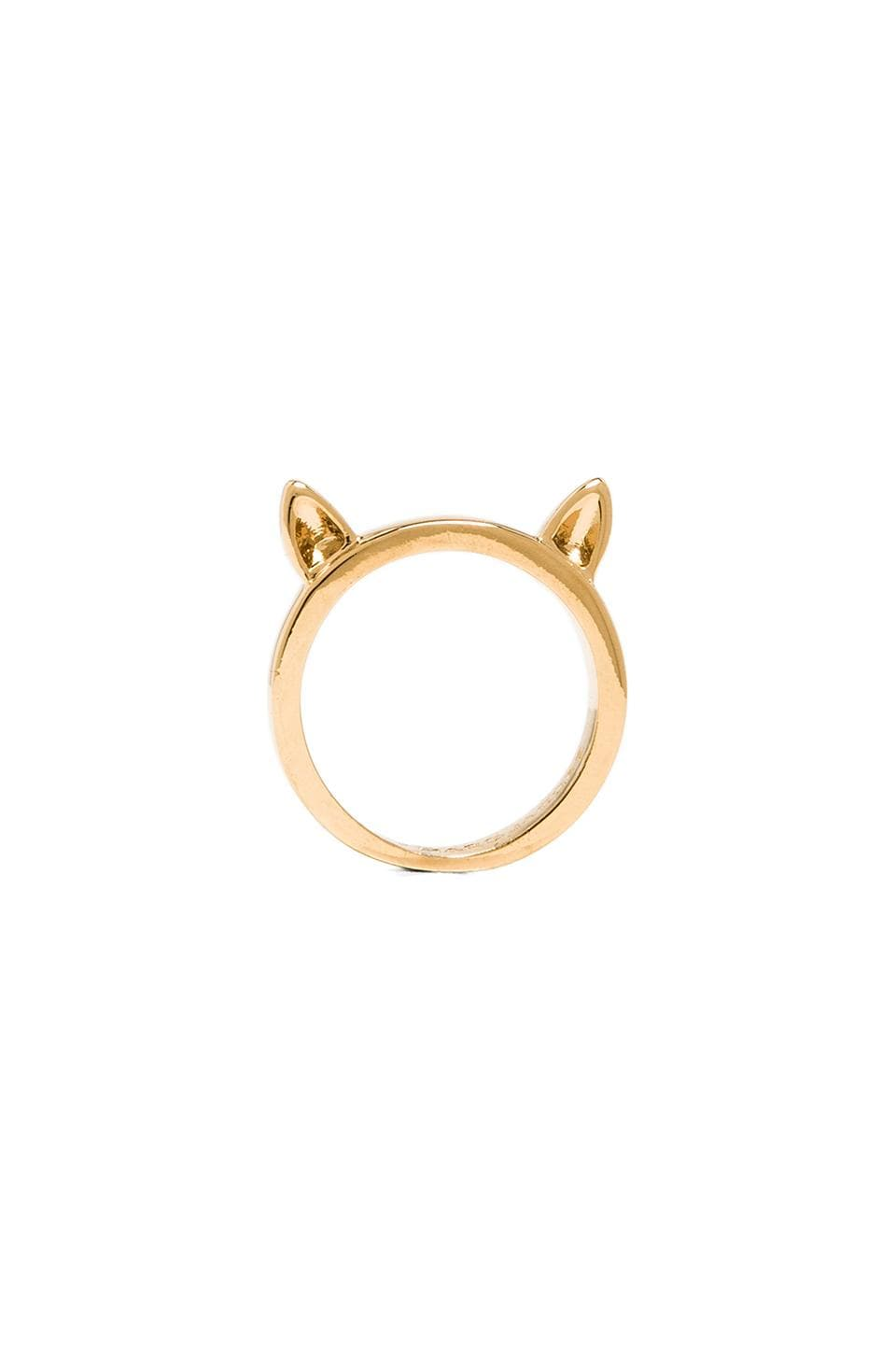 Marc by Marc Jacobs Octi-Bolts Cat Ears Ring in Oro