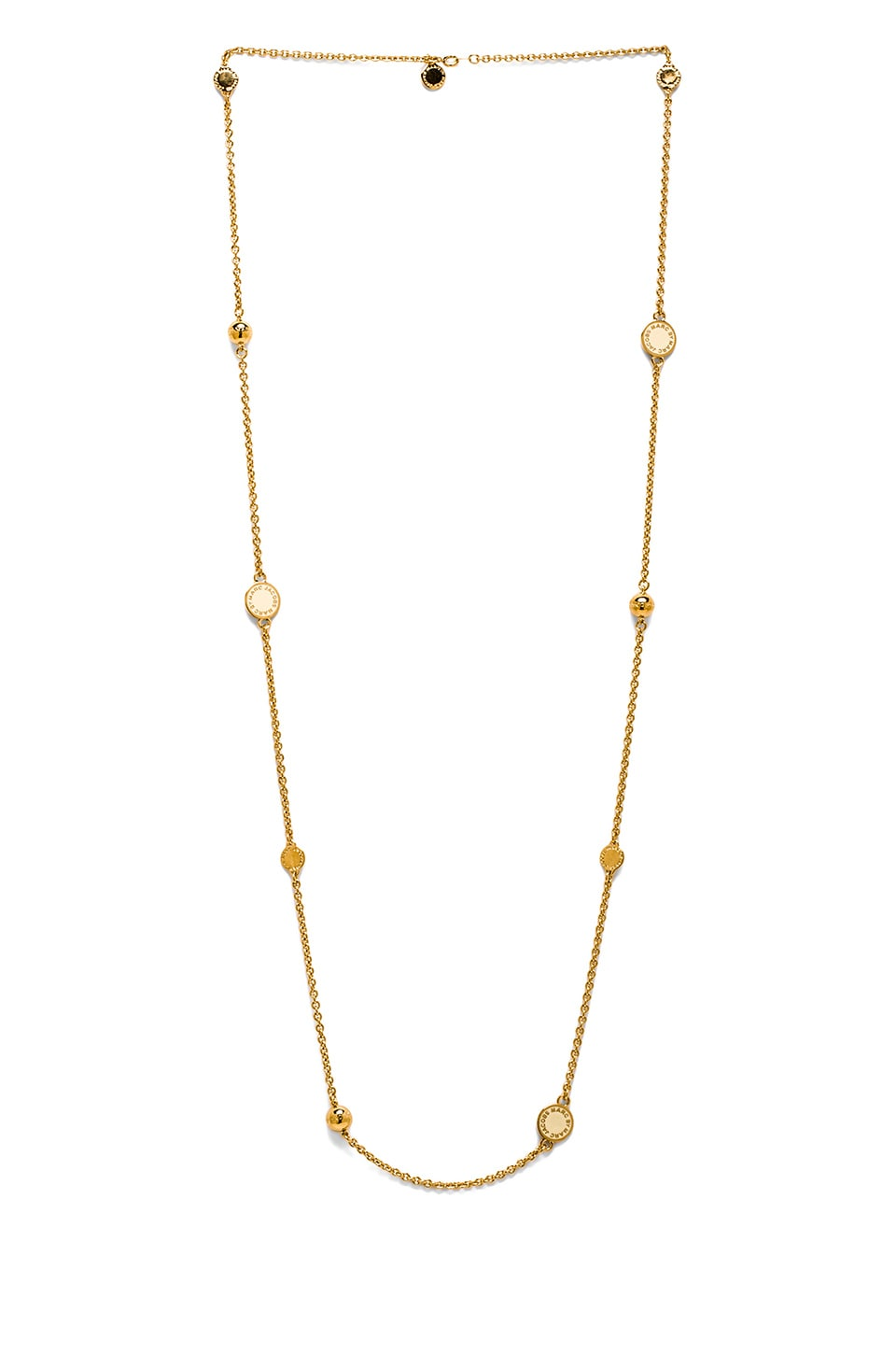Marc by Marc Jacobs Classic Double Wrap Necklace in Cream & Oro