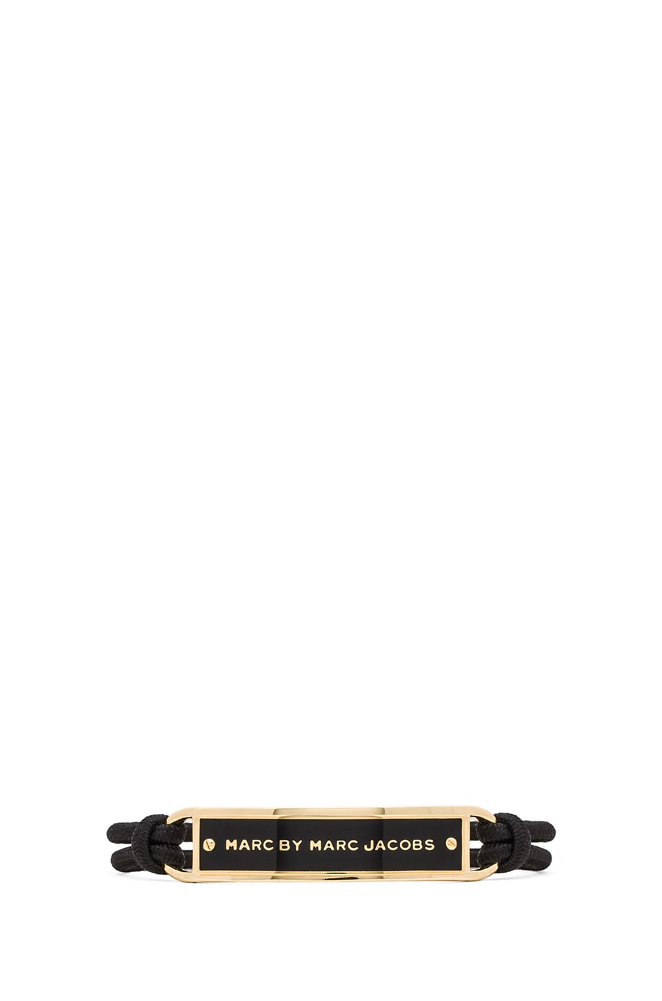 Marc by Marc Jacobs Grab & Go New Plaque Sporty Bracelet in Black & Oro