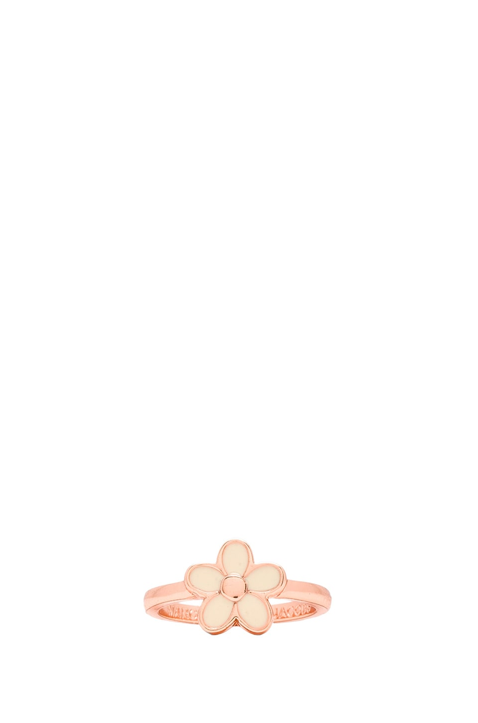 Marc by Marc Jacobs Grab & Go Enamel Daisy Ring in Cream & Rose Gold