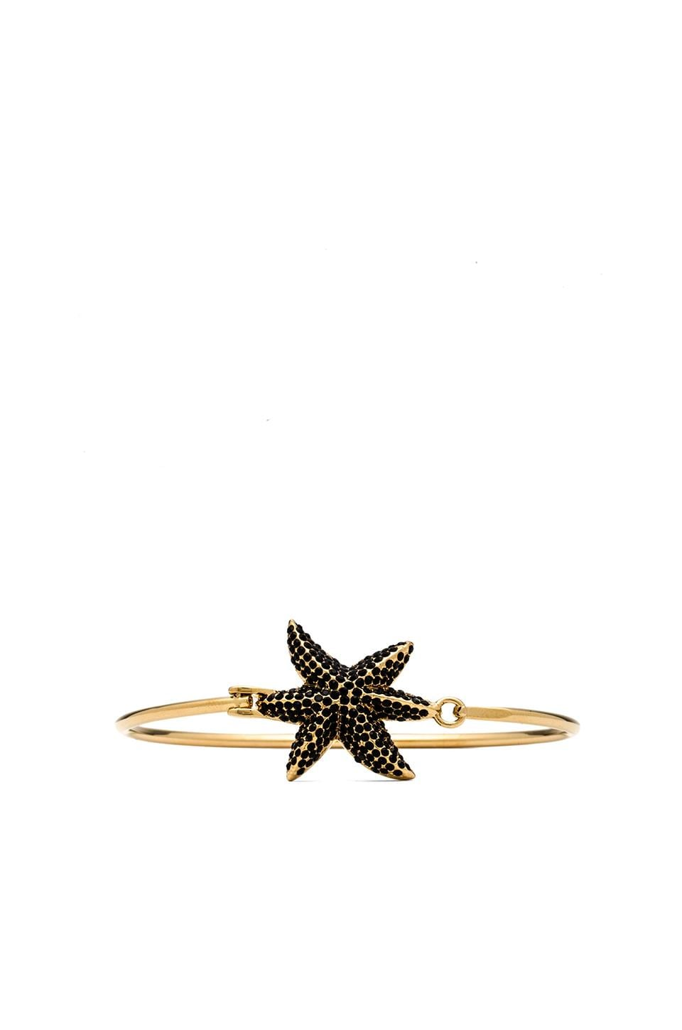 Marc by Marc Jacobs Read My Palmz Pave Palm Hinge Bangle in Black & Oro