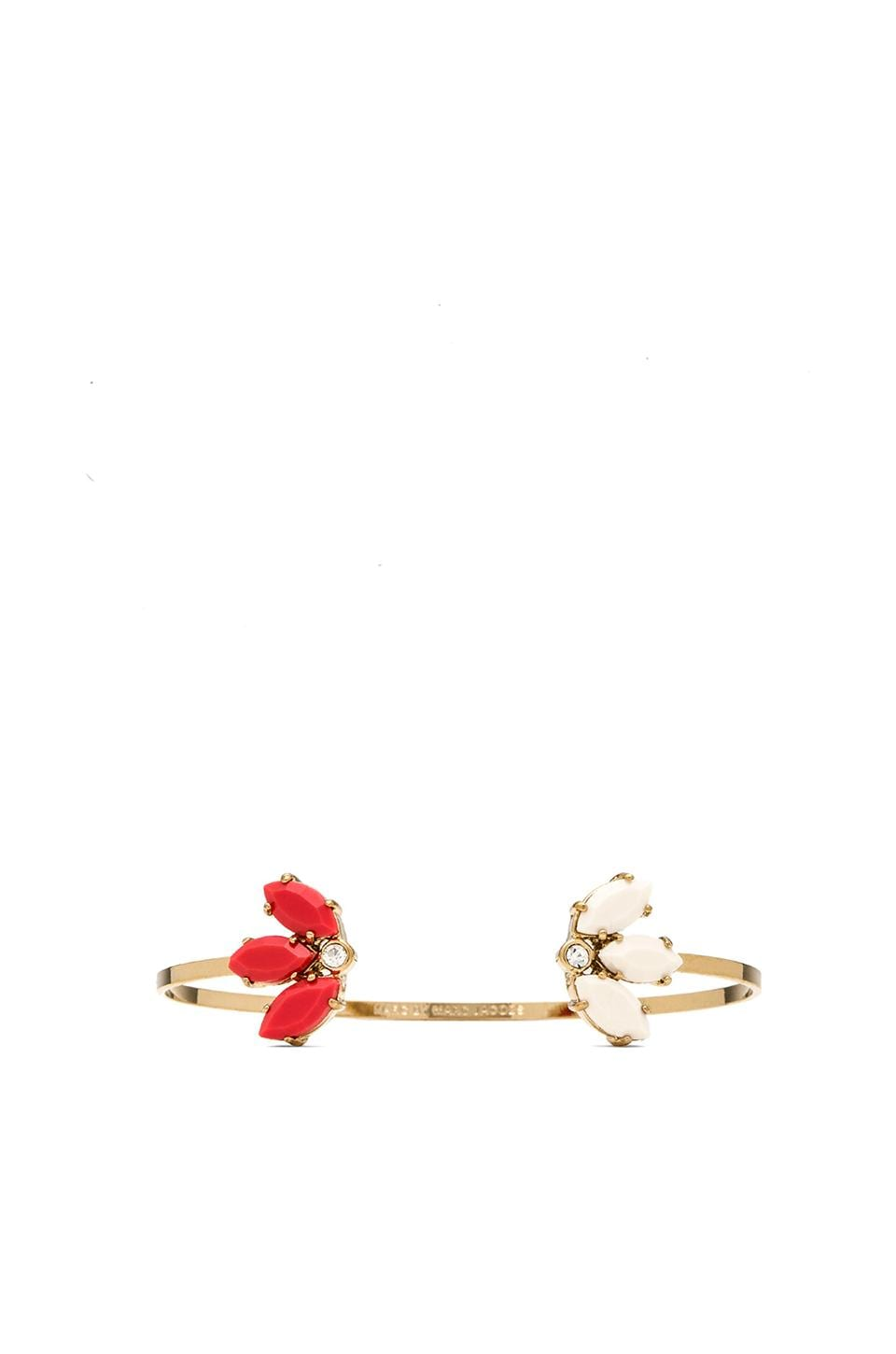 Marc by Marc Jacobs Read My Palmz Marquis Palm Bangle in Infrared Multi & Oro