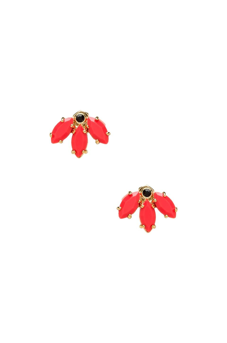 Marc by Marc Jacobs Read My Palmz Marquis Palm Studs in Infrared & Oro