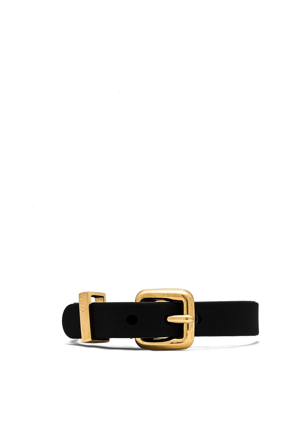 Marc by Marc Jacobs Grab & Go Logo Rubber Bandz in Black & Oro