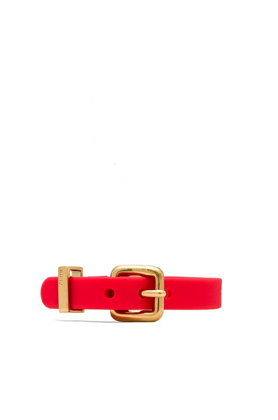 Marc by Marc Jacobs Grab & Go Logo Rubber Bandz in Infrared & Oro