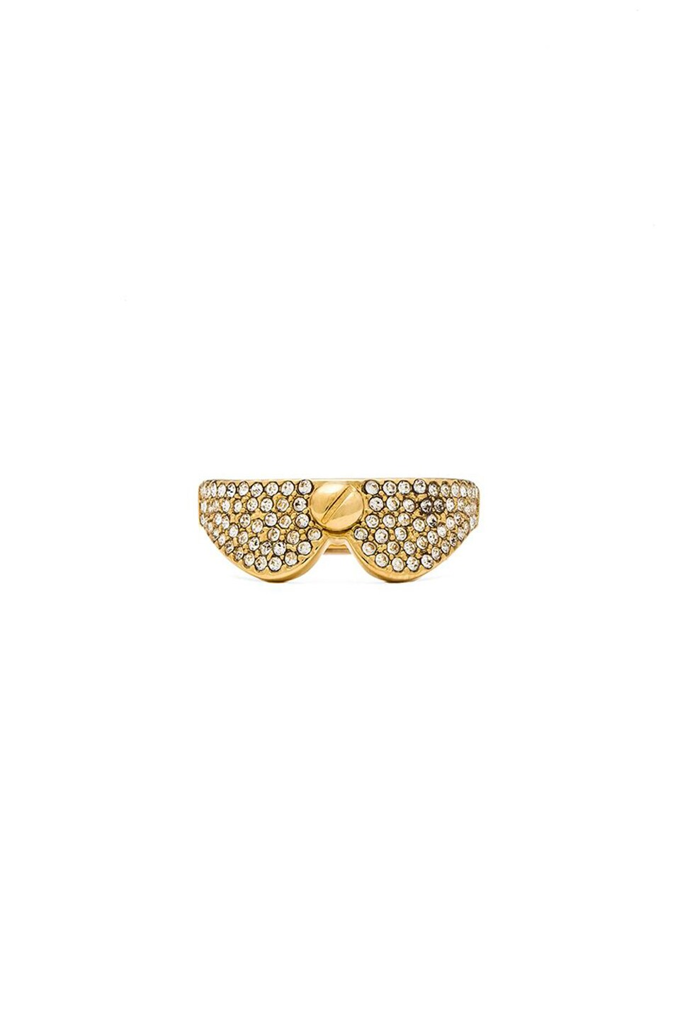 Marc by Marc Jacobs Screw It Collar Ring in Crystal & Oro