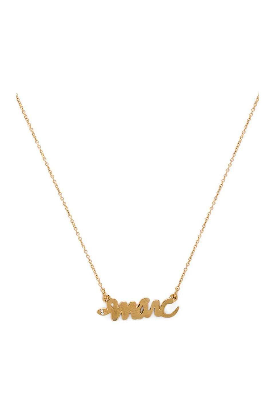 Marc by Marc Jacobs Script Snake Necklace in Oro