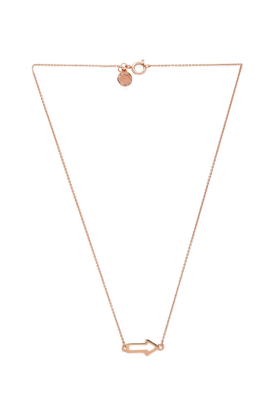 Marc by Marc Jacobs Grab & Go Arrow Necklace in Rose Gold