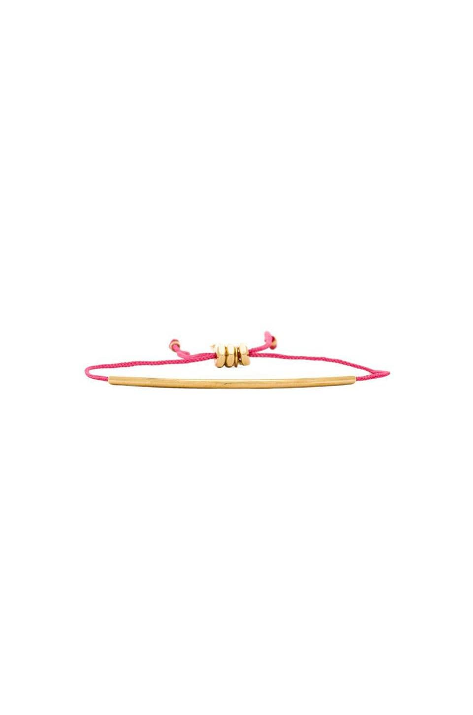 Marc by Marc Jacobs Grab & Go Tiny Metal Tube Friendship Bracelet in Punch Pink & Oro