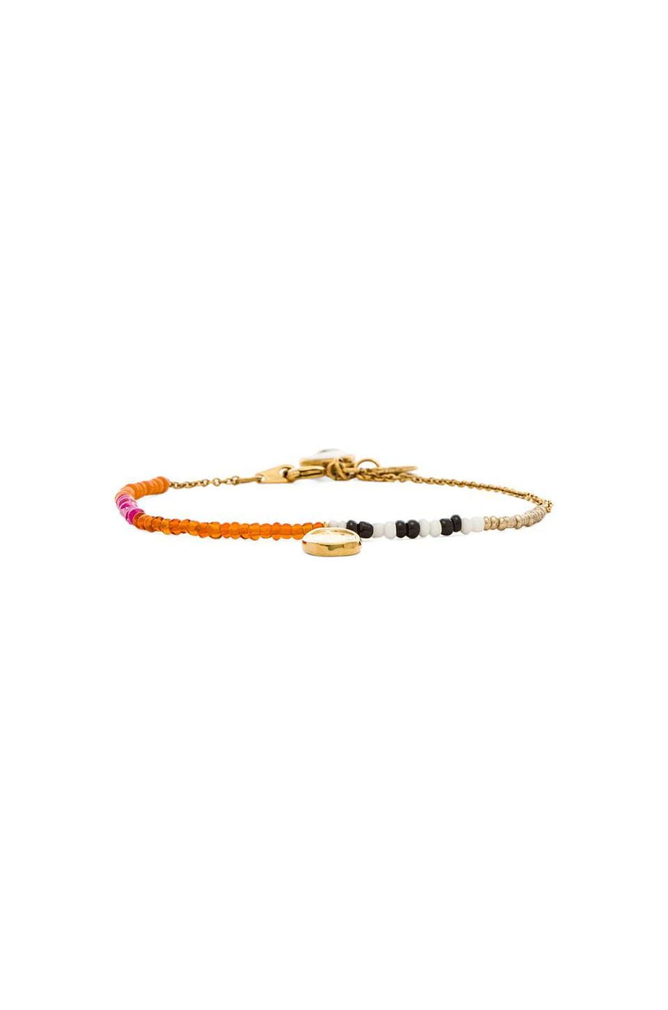 Marc by Marc Jacobs Grab & Go Safety Bead Single Strand Bracelet in Red Multi & Oro
