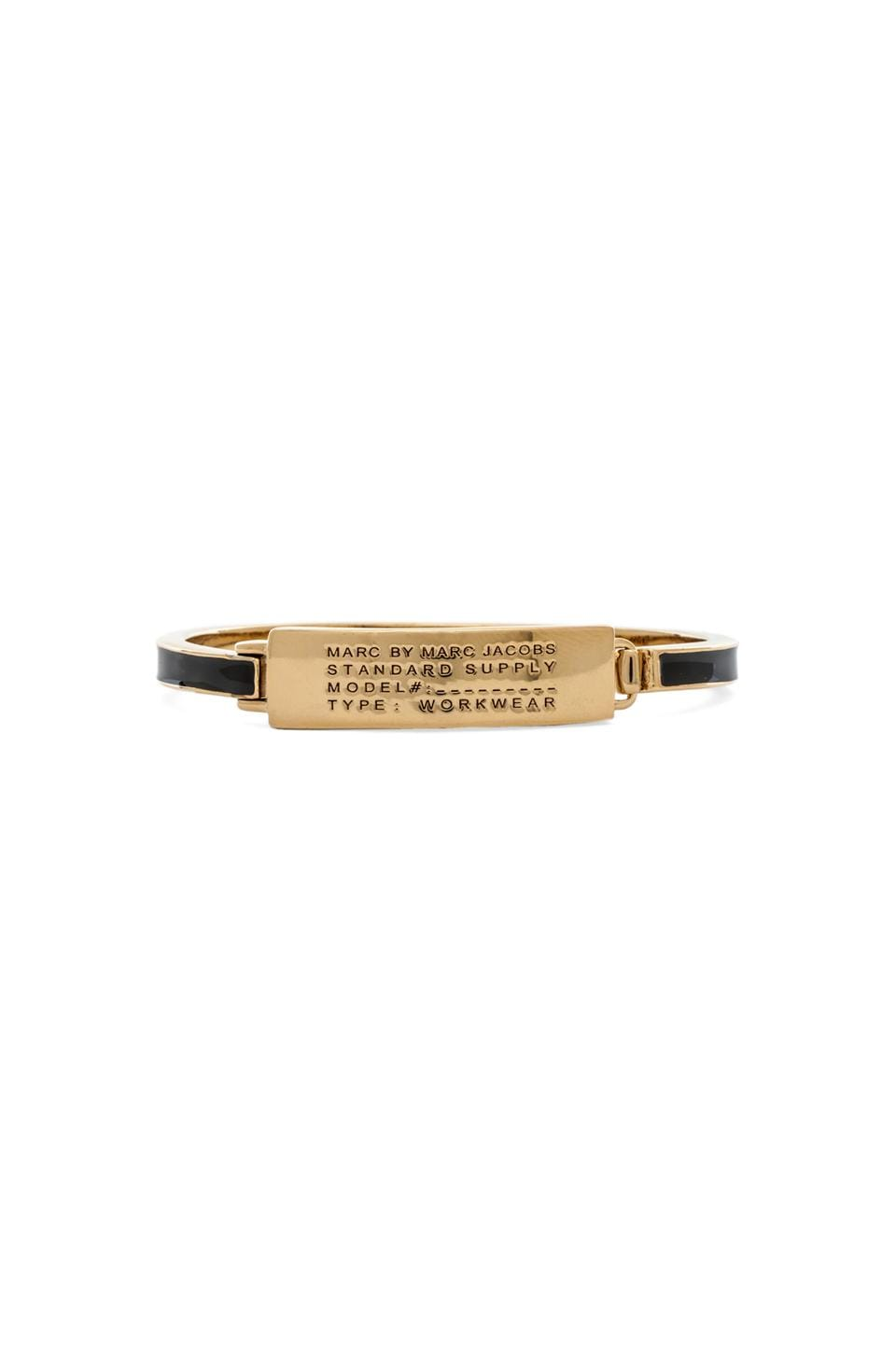 Marc by Marc Jacobs Standard Supply Fine Enamel Bangle in Black