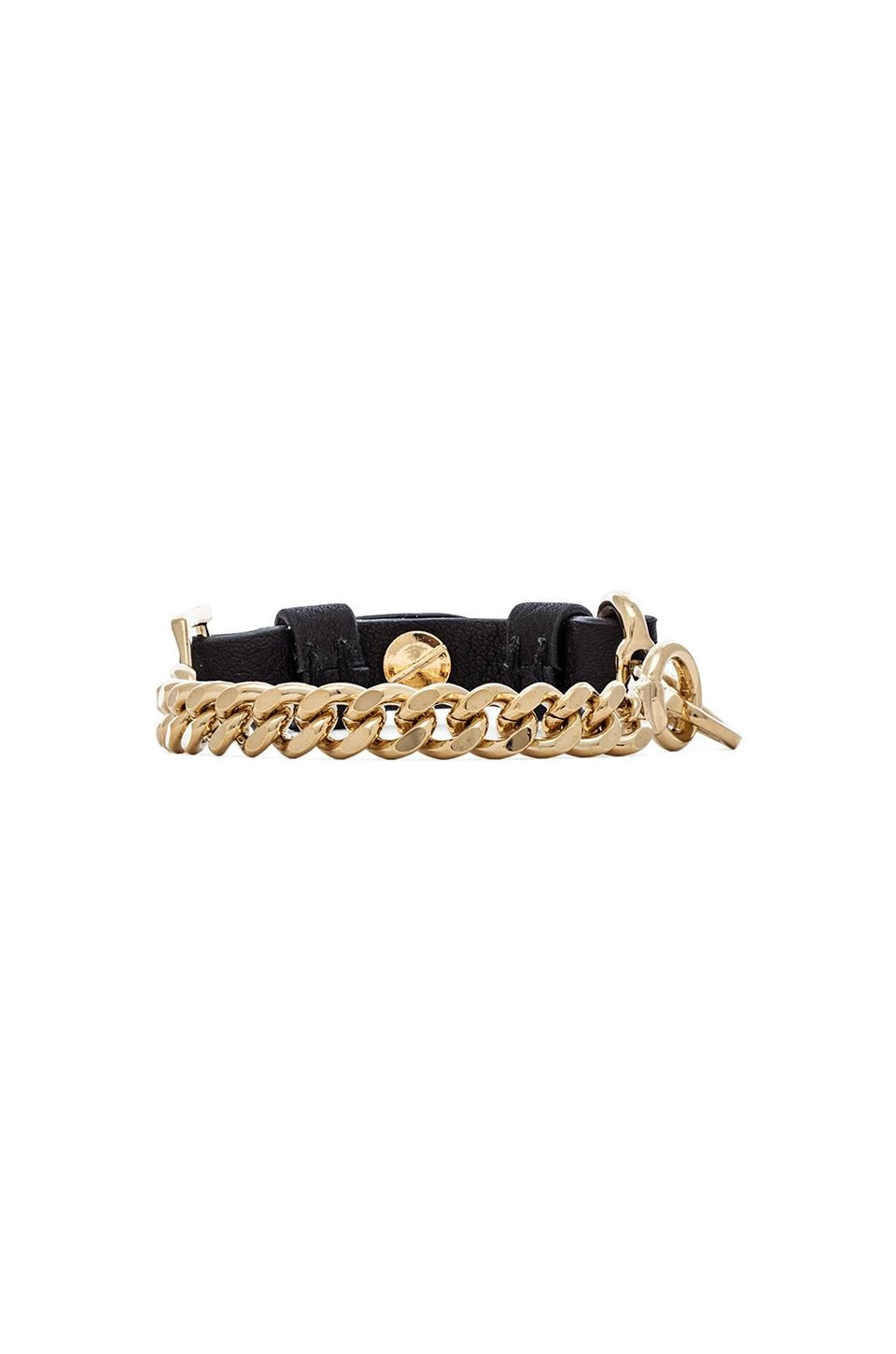 Marc by Marc Jacobs BMX Leather Bracelet in Black