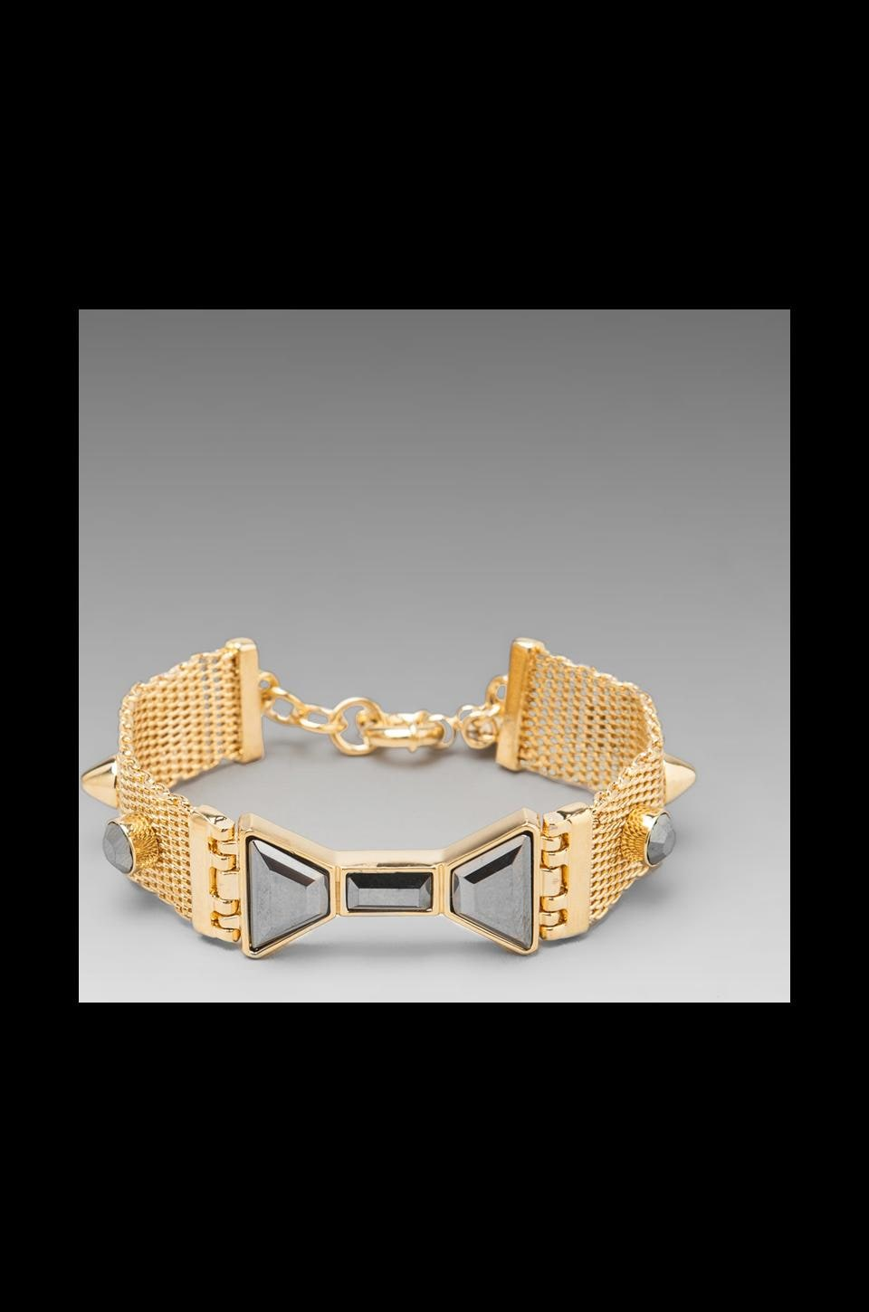 Marc by Marc Jacobs Polka Dot Bow ID Bracelet in Silver Flare Oro