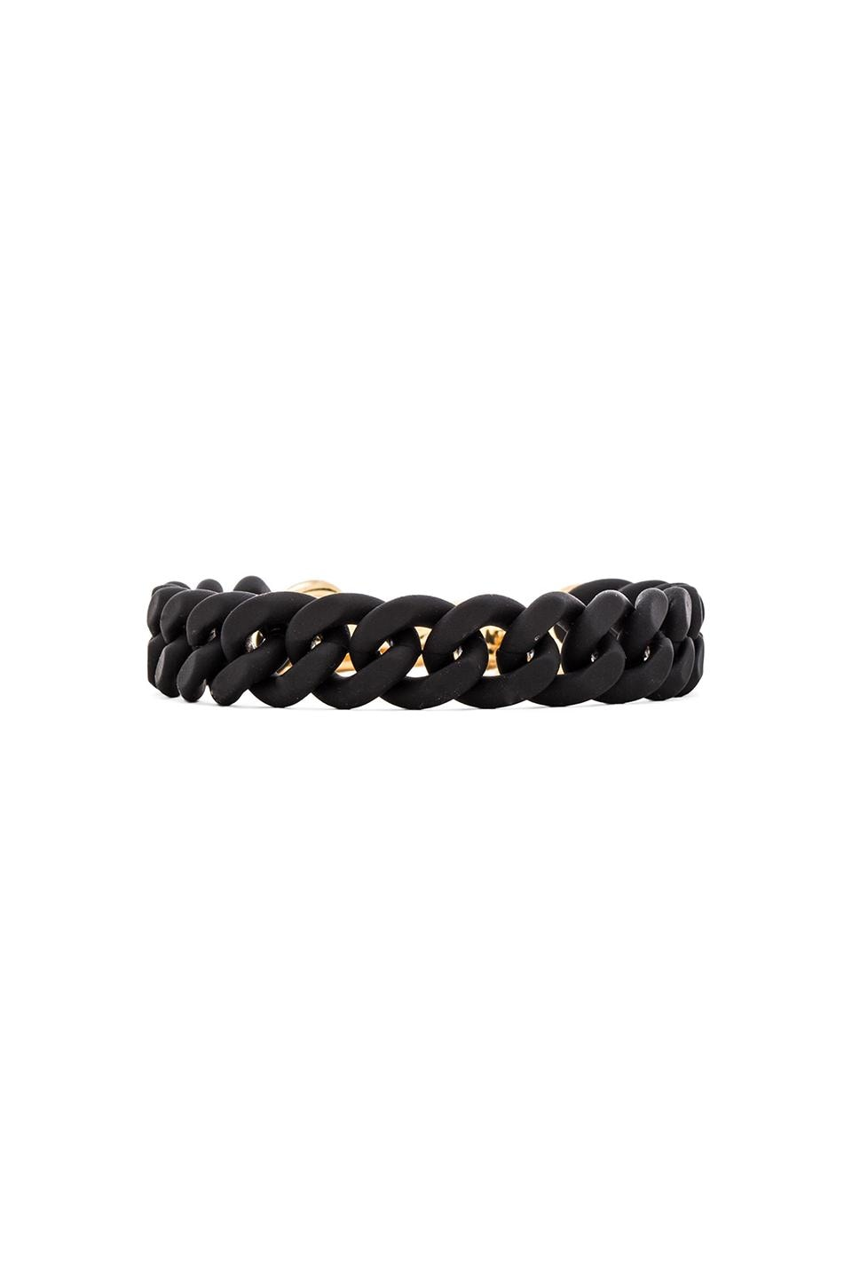 Marc by Marc Jacobs Rubber Chain Bracelet in Black