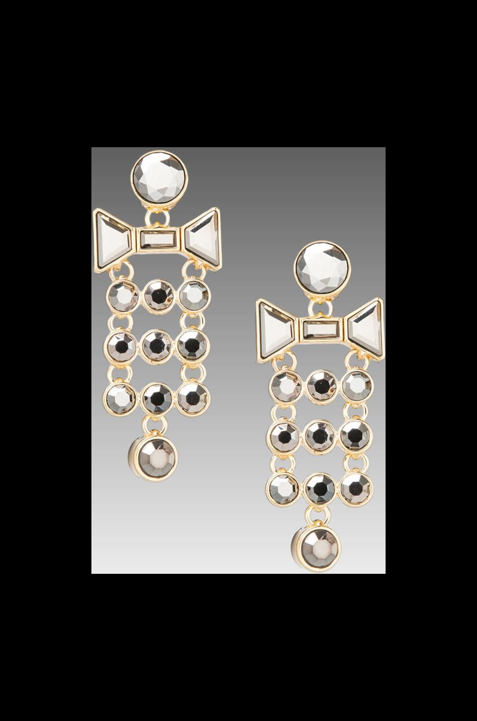 Marc by Marc Jacobs Polka Dot Tiered Bow Earrings in Silver Flare Oro