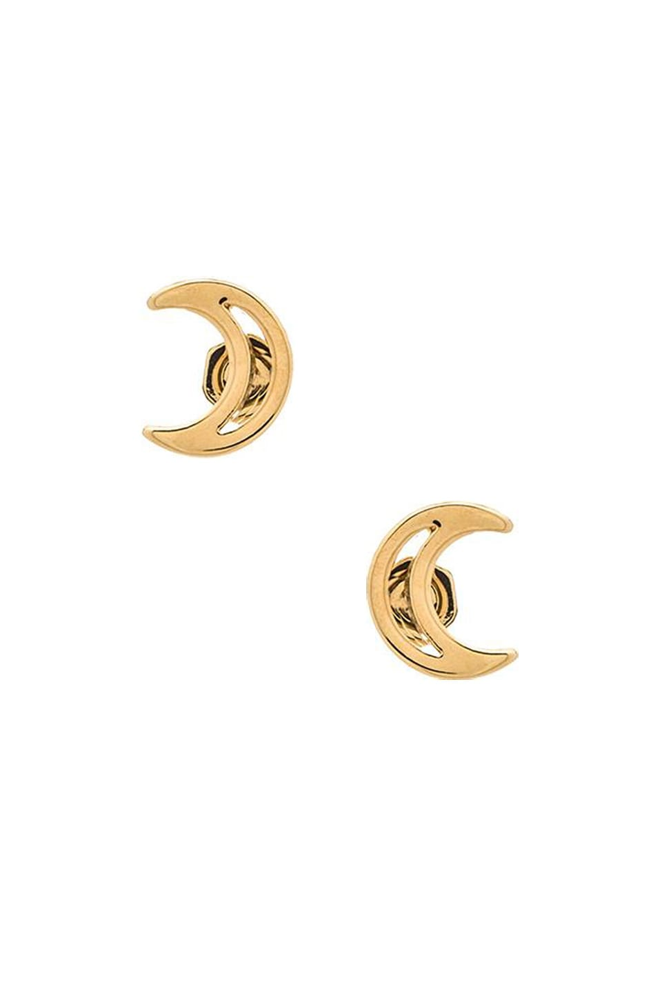 Marc by Marc Jacobs New Classic Marc Crescent Studs in Oro