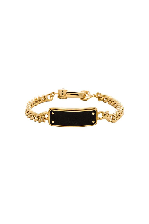 Marc by Marc Jacobs Link To Katie Enamel Tiny ID Bracelet in Black