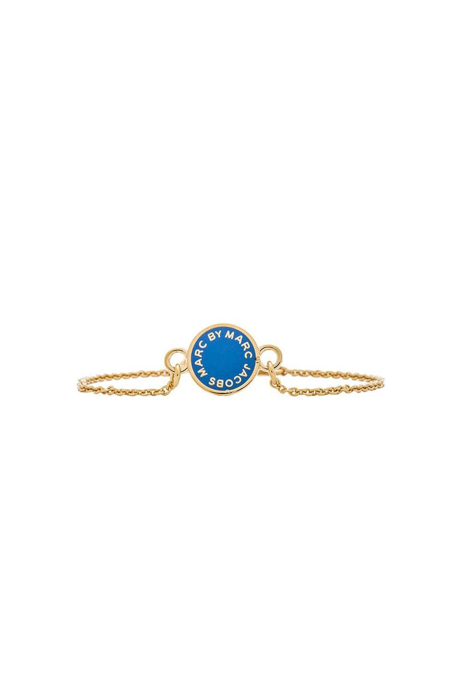 Marc by Marc Jacobs Enamel Disc Bracelet in Conch Blue