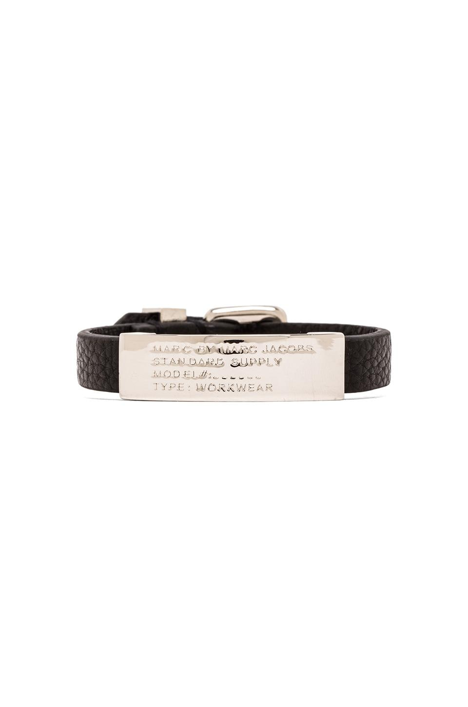Marc by Marc Jacobs Standard Supply ID Bracelet in Black Argento