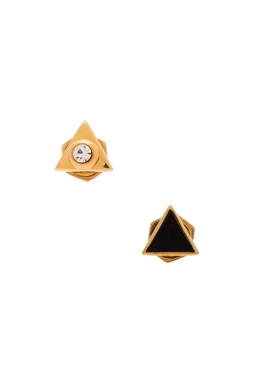 Marc by Marc Jacobs Triangle Stud Earrings in Black