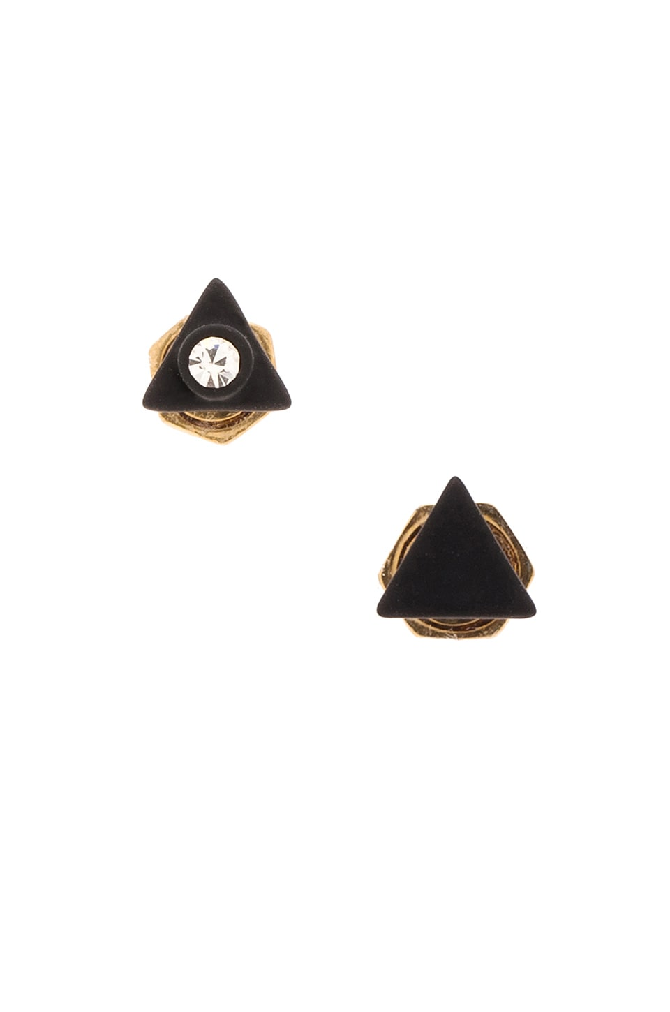 Marc by Marc Jacobs Triangle Studs in Black