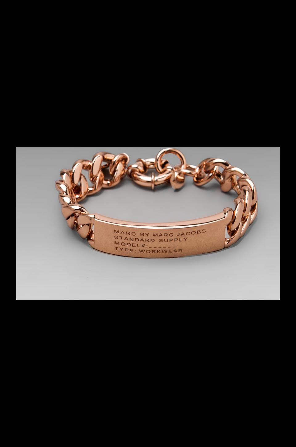 Marc by Marc Jacobs Standard Supply ID Bracelet in Rose Gold