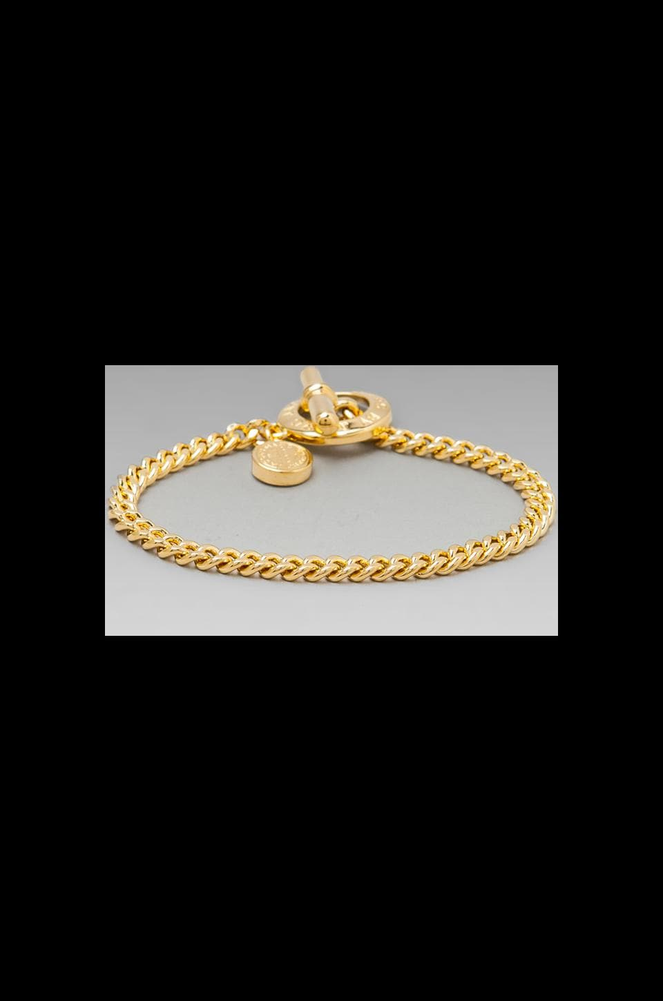 Marc by Marc Jacobs Mini Toggle Bracelet in Oro