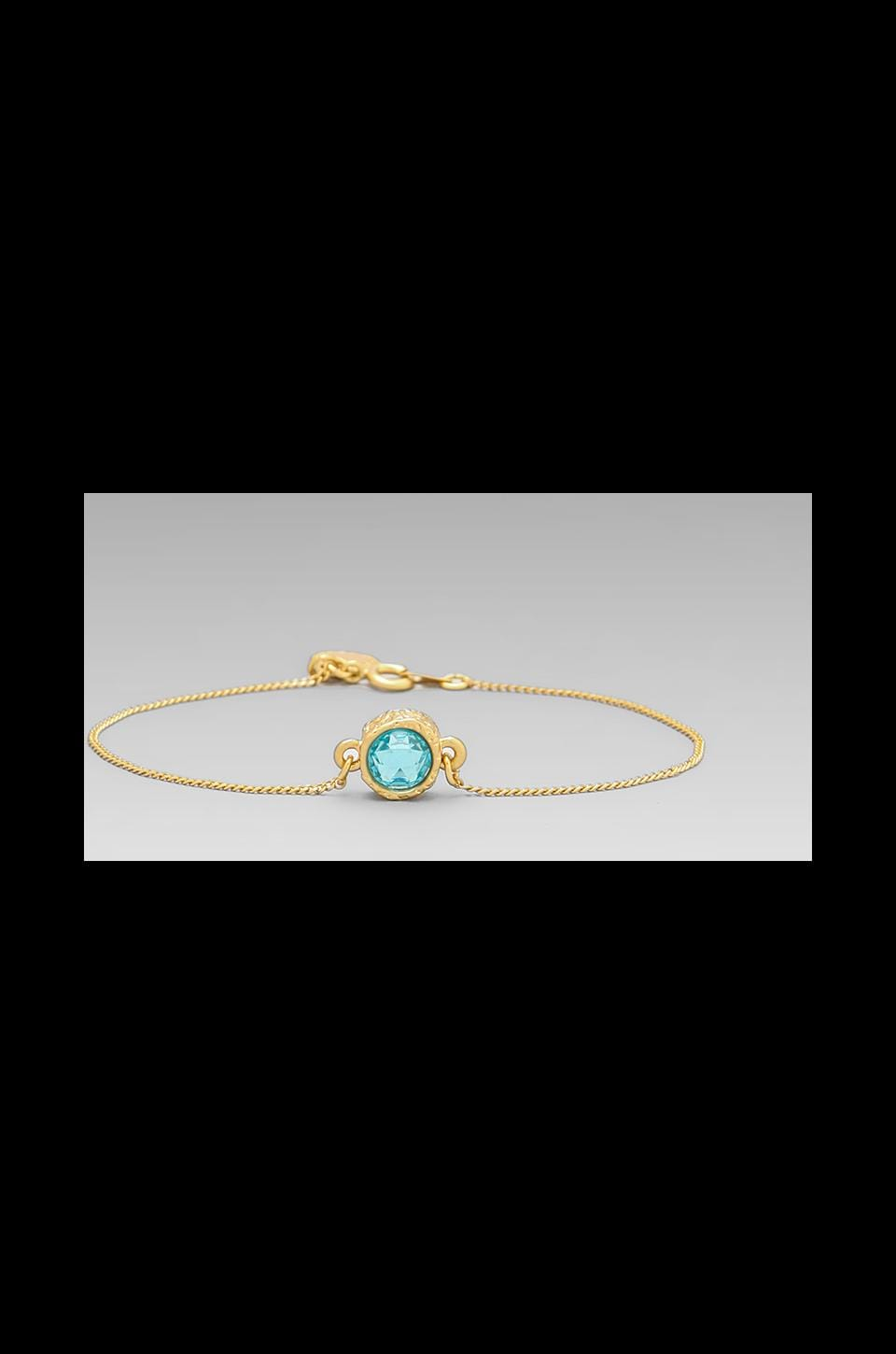 Marc by Marc Jacobs Tiny Crystal Bracelet in Aquamarine