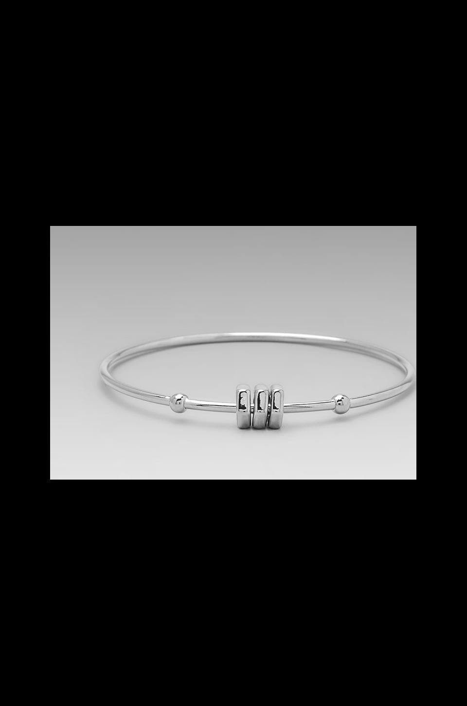 Marc by Marc Jacobs Bolt Tiny Bangle in Argento