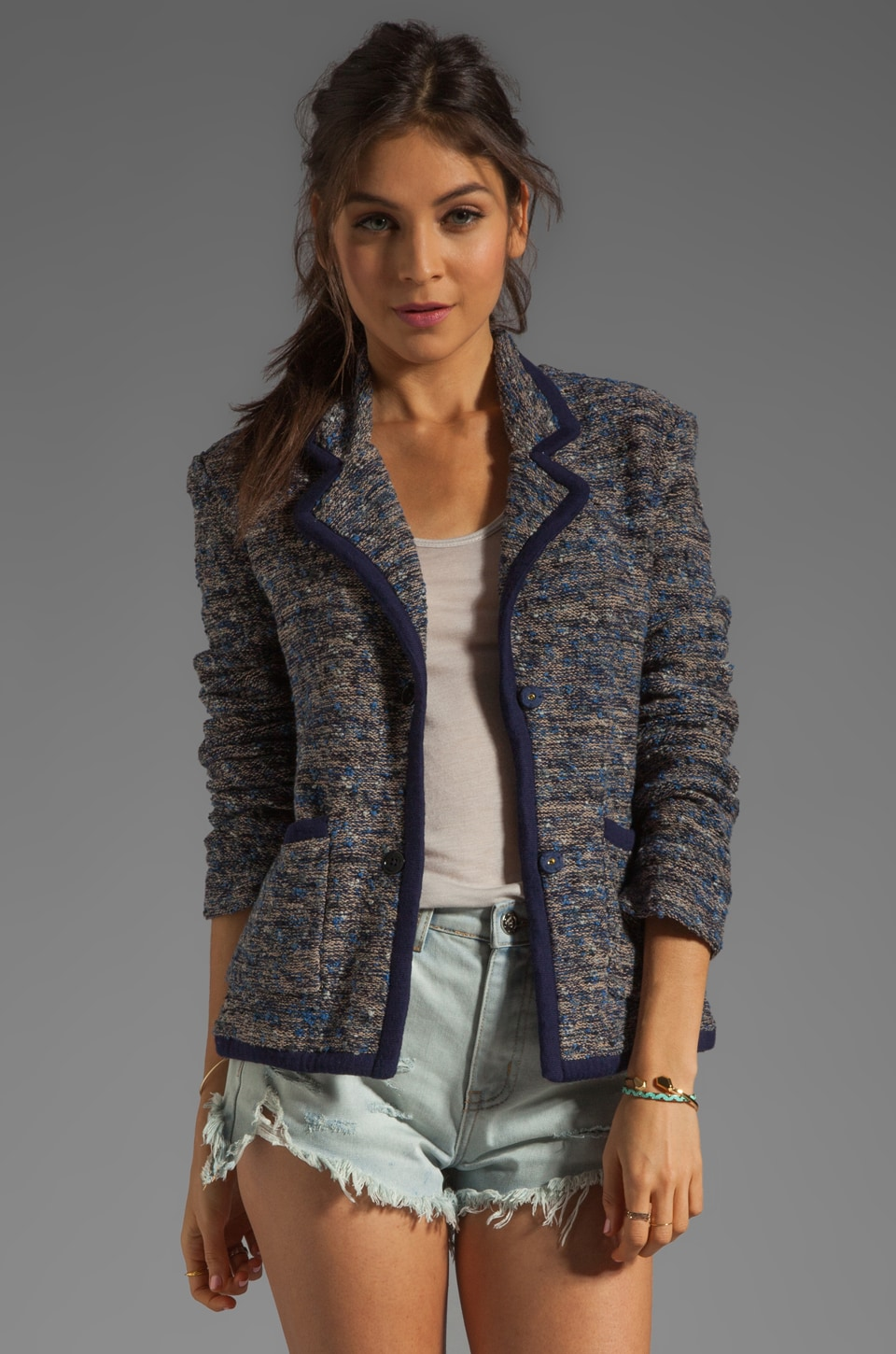 Marc by Marc Jacobs Suze Sweater Blazer in Normandy Blue Multi