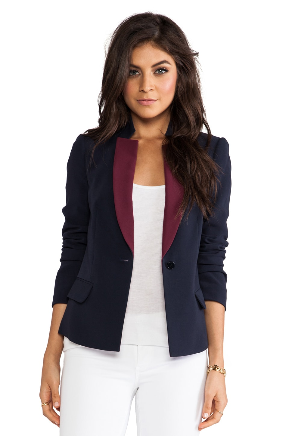 Marc by Marc Jacobs Sparks Crepe Blazer in Ink Blue Multi