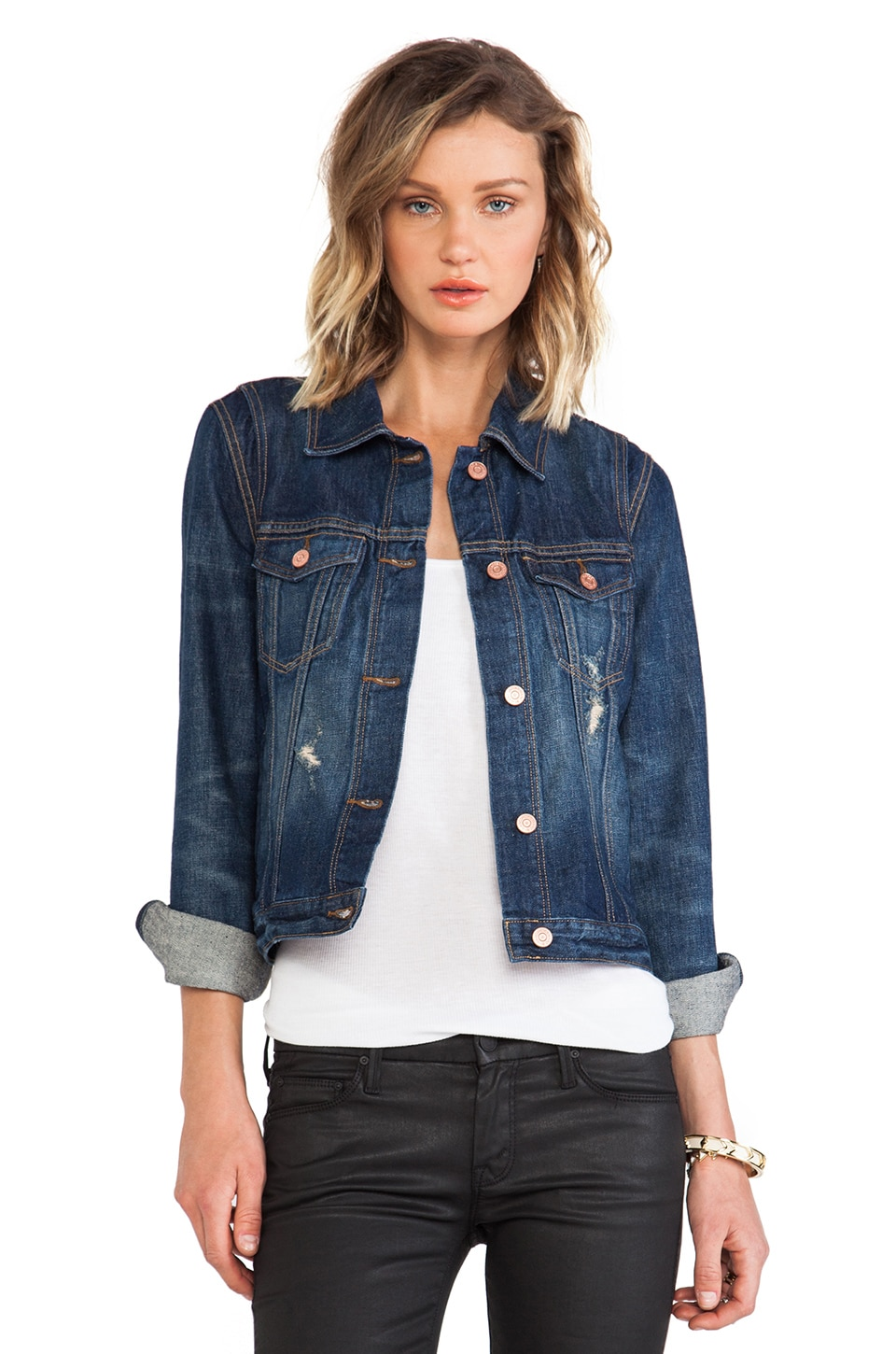 Marc by Marc Jacobs Pieced Denim Jacket in Milly