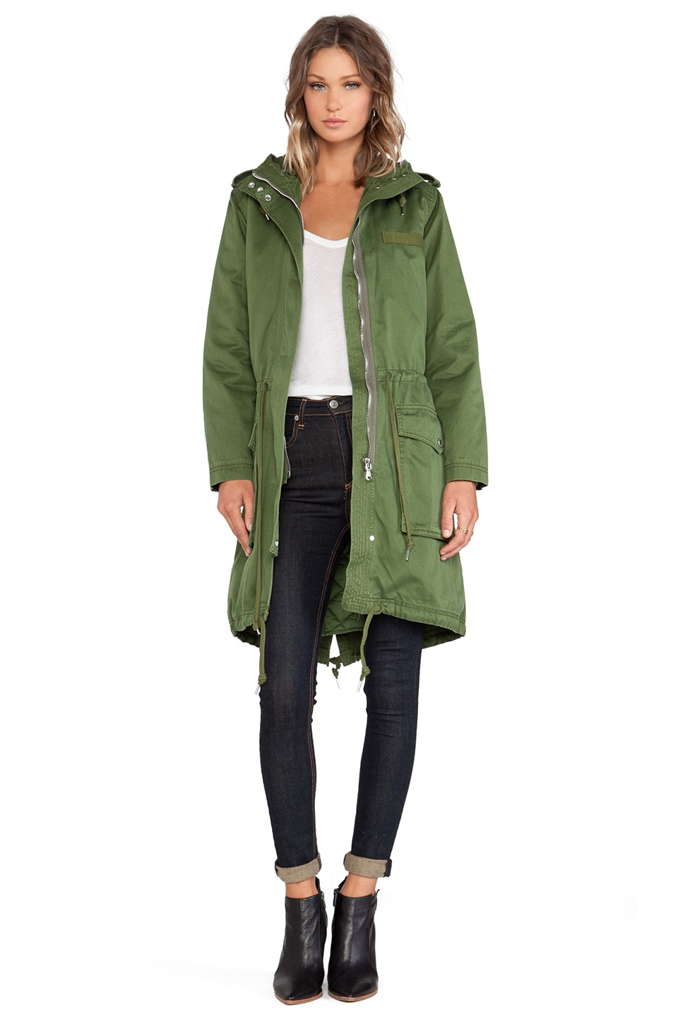 Marc by Marc Jacobs Classic Anorak Jacket in New Fatigue Green