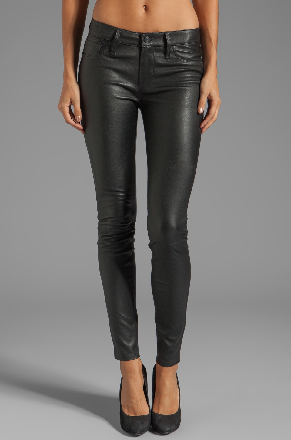 Marc by Marc Jacobs Leather Legging in Black