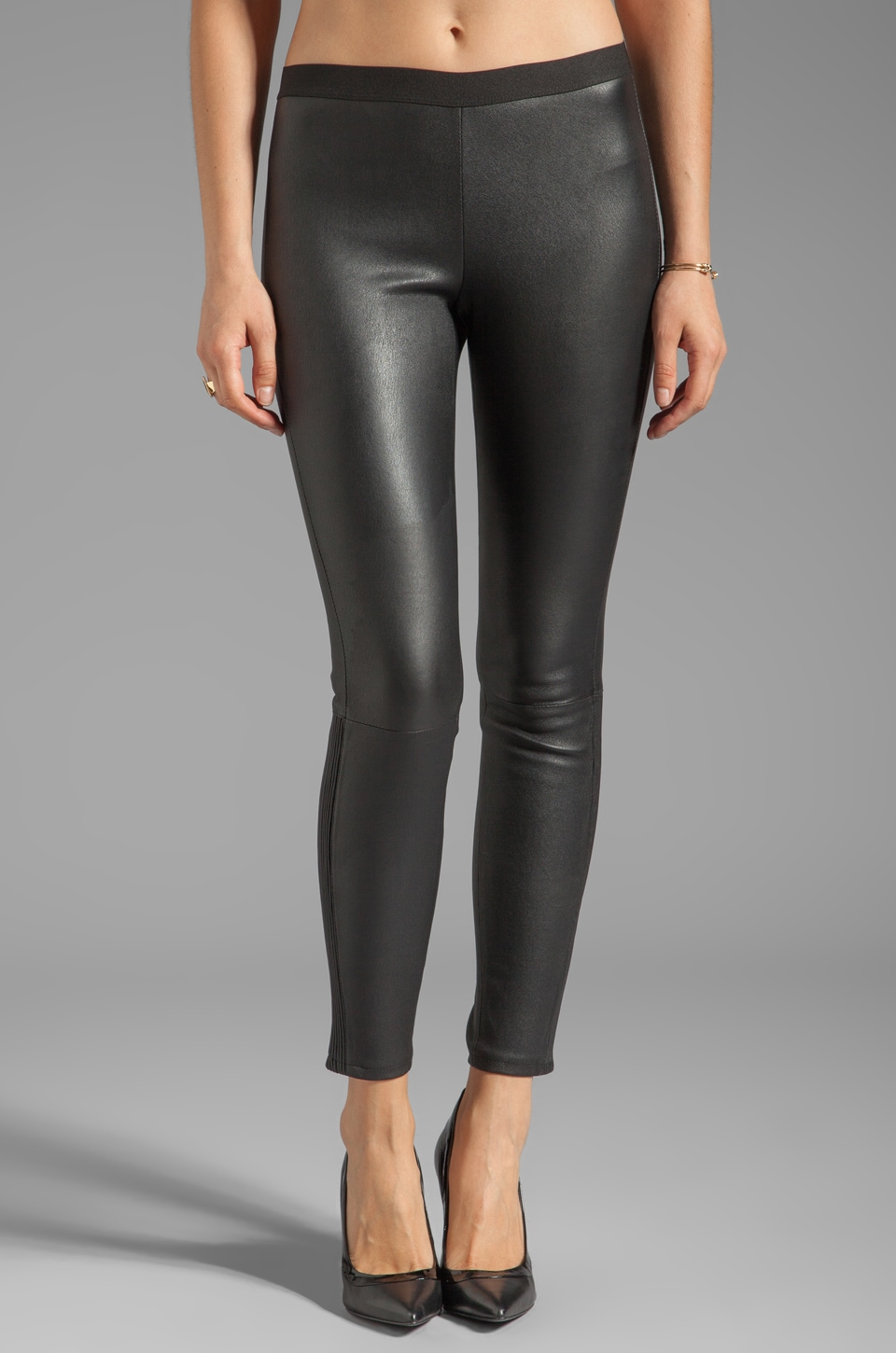 Marc by Marc Jacobs Lena Leather Pant in Black