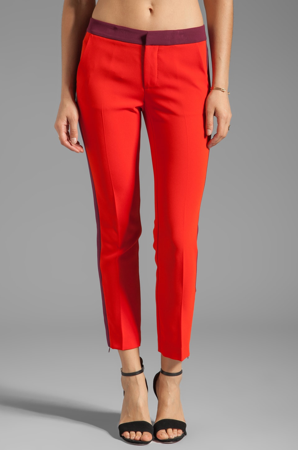 Marc by Marc Jacobs Sparks Crepe Pant in Corvette Red Multi