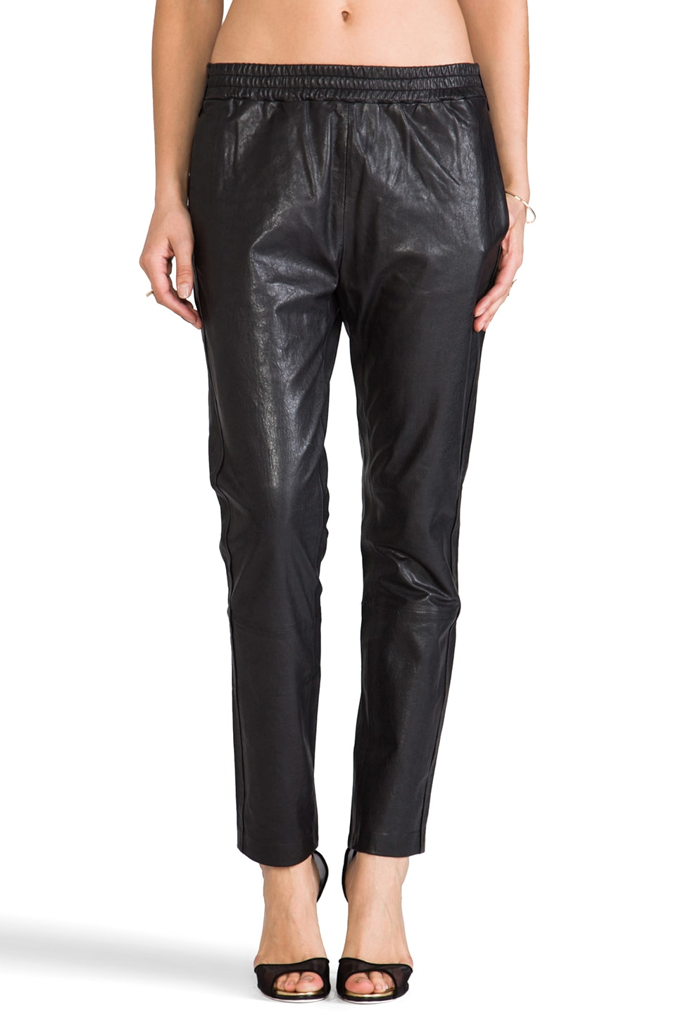 Marc by Marc Jacobs Karlie Leather Pants in Black