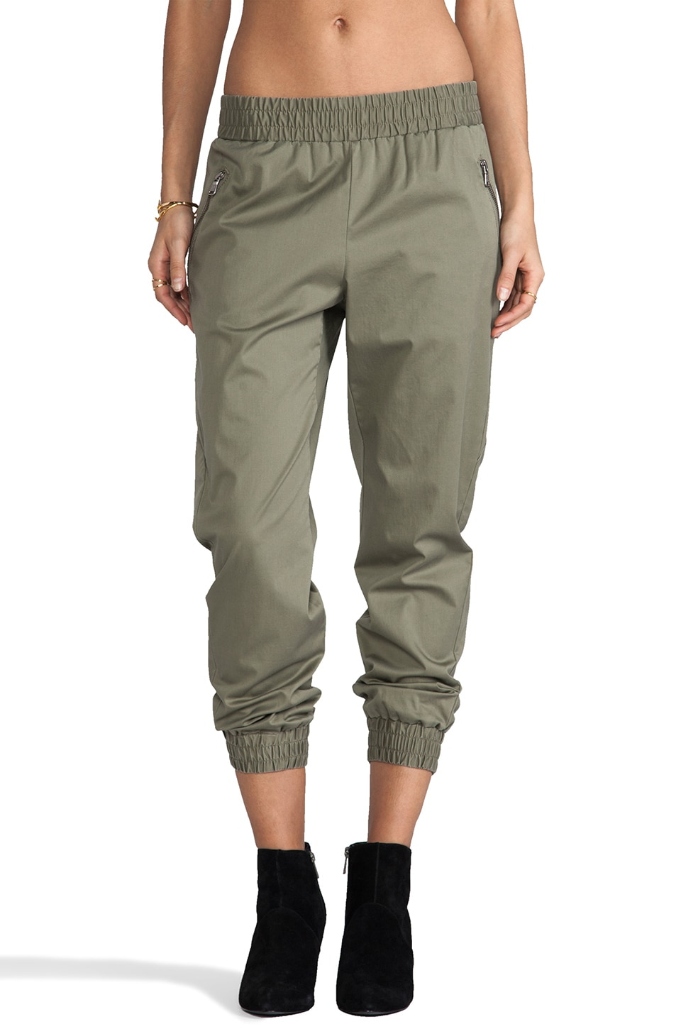 Marc by Marc Jacobs Samantha Twill Pants in Dusty Green