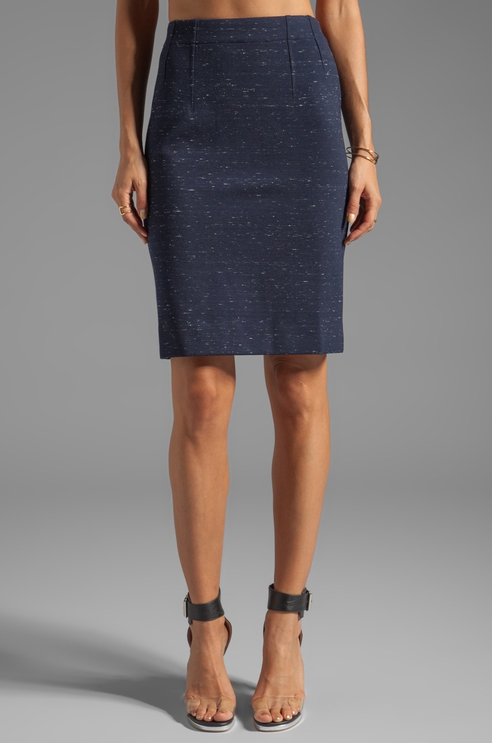 Marc by Marc Jacobs Alicia Ponte Skirt in Ink Blue Melange