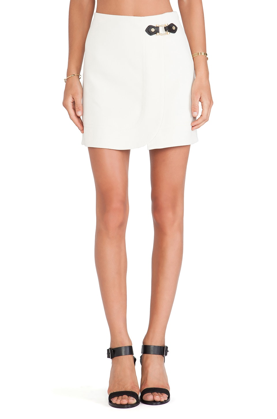 Marc by Marc Jacobs Eva Stretch Mini Skirt in Antique White
