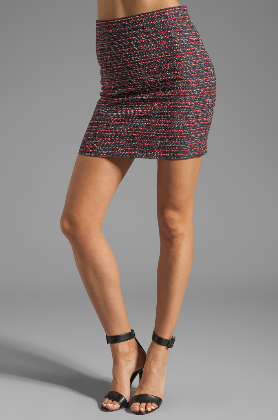 Marc by Marc Jacobs Miranda Tweed Skirt in Cambridge Red Multi