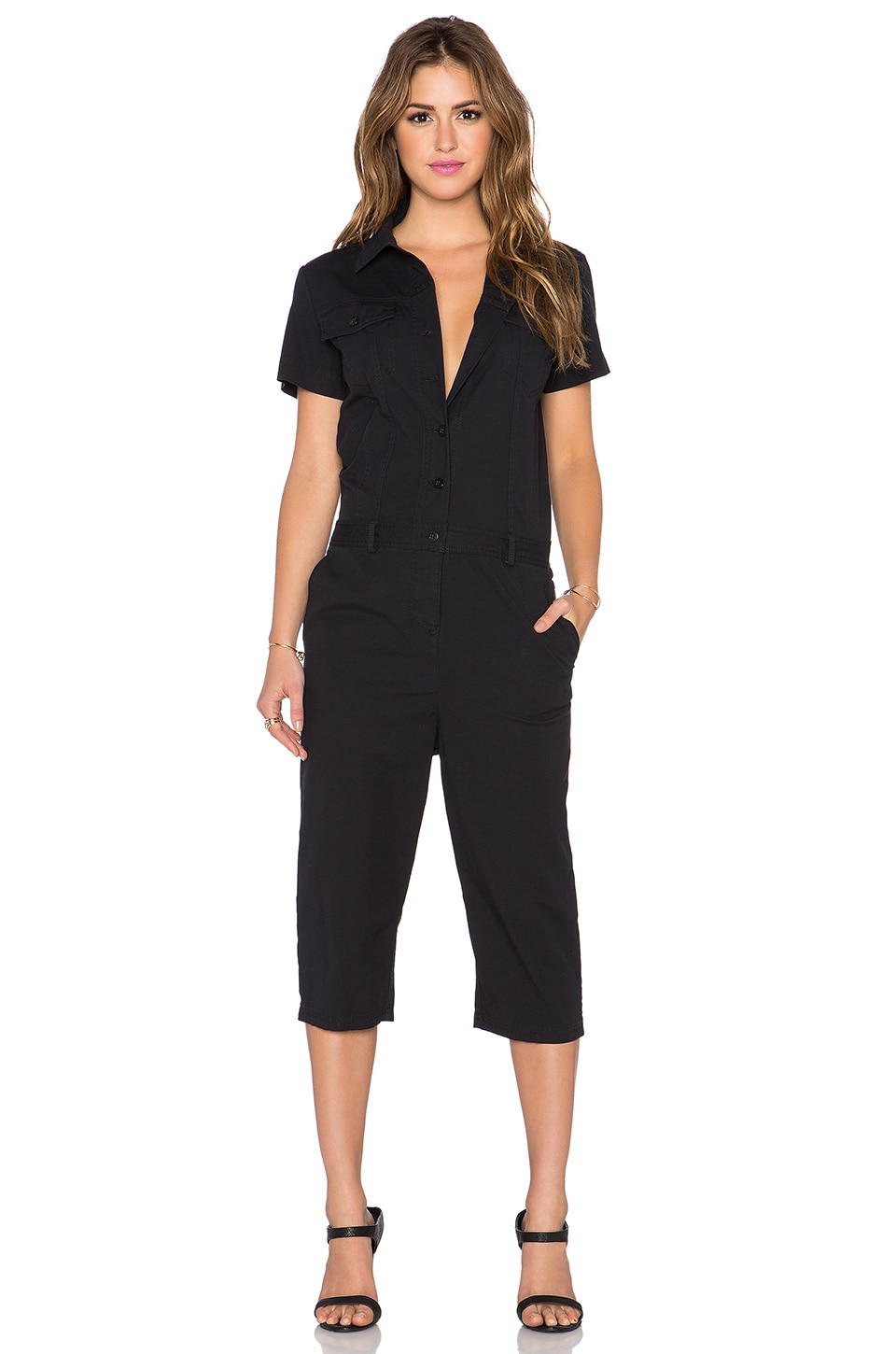 Marc by Marc Jacobs Summer Cotton Jumpsuit in Black | REVOLVE