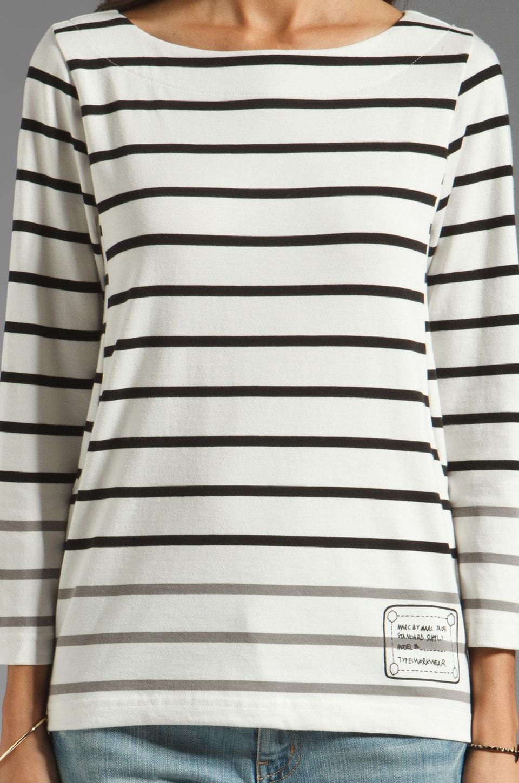 Marc by Marc Jacobs Resort Logo Brenton Long Sleeve in Black Multi