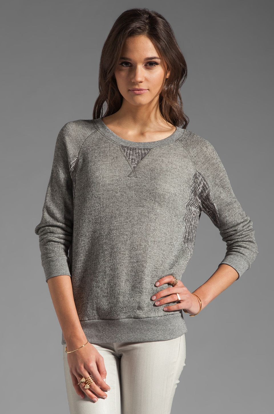 Marc by Marc Jacobs Resort Win Loopback Terry Long Sleeve in Athletic Grey Melange
