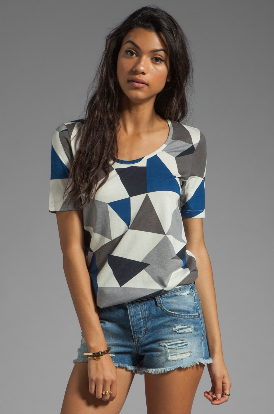 Marc by Marc Jacobs Taboo Knit Top in Normandy Blue Multi