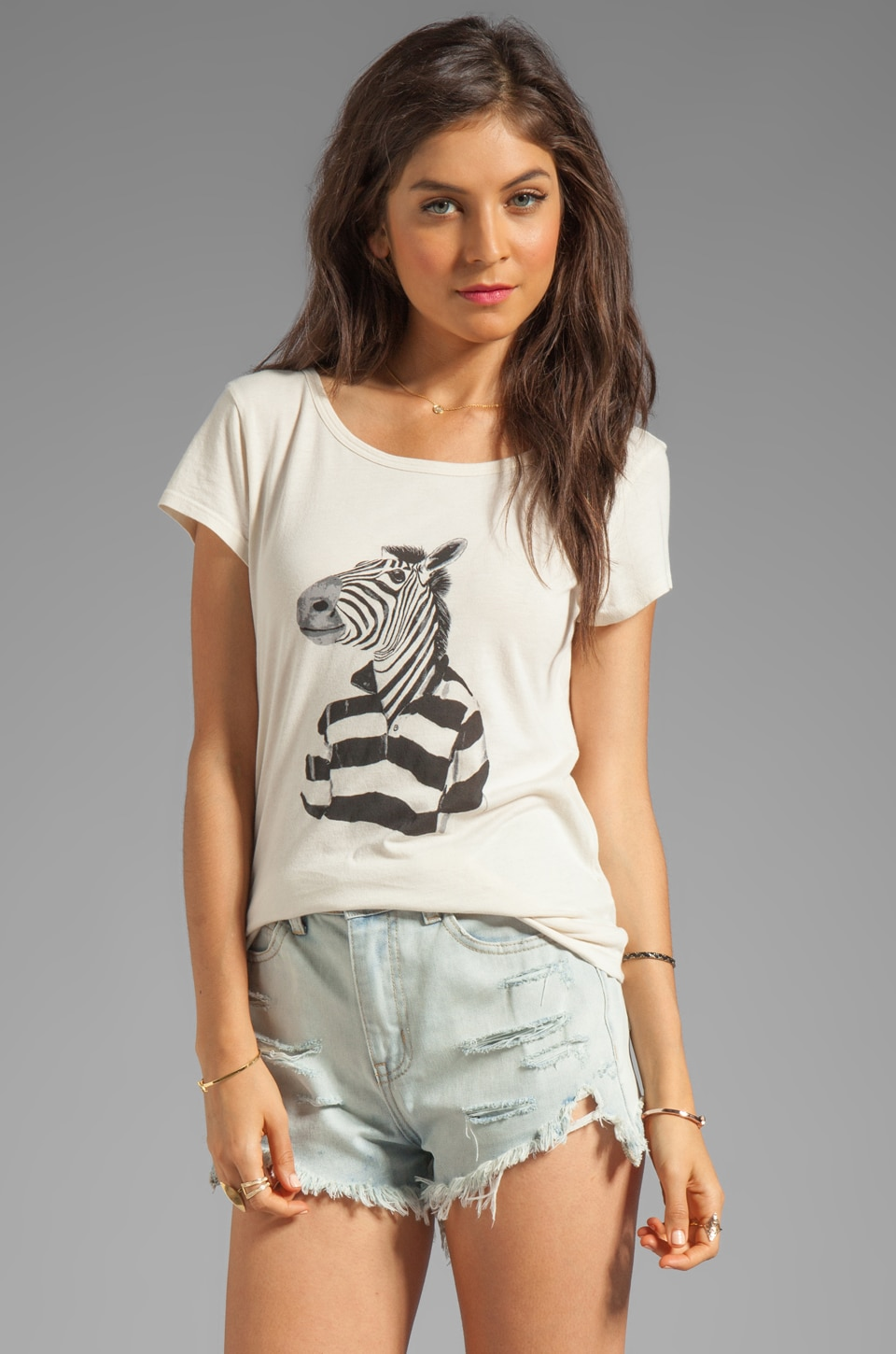 Marc by Marc Jacobs Mr. Zebra Tee in Antique White