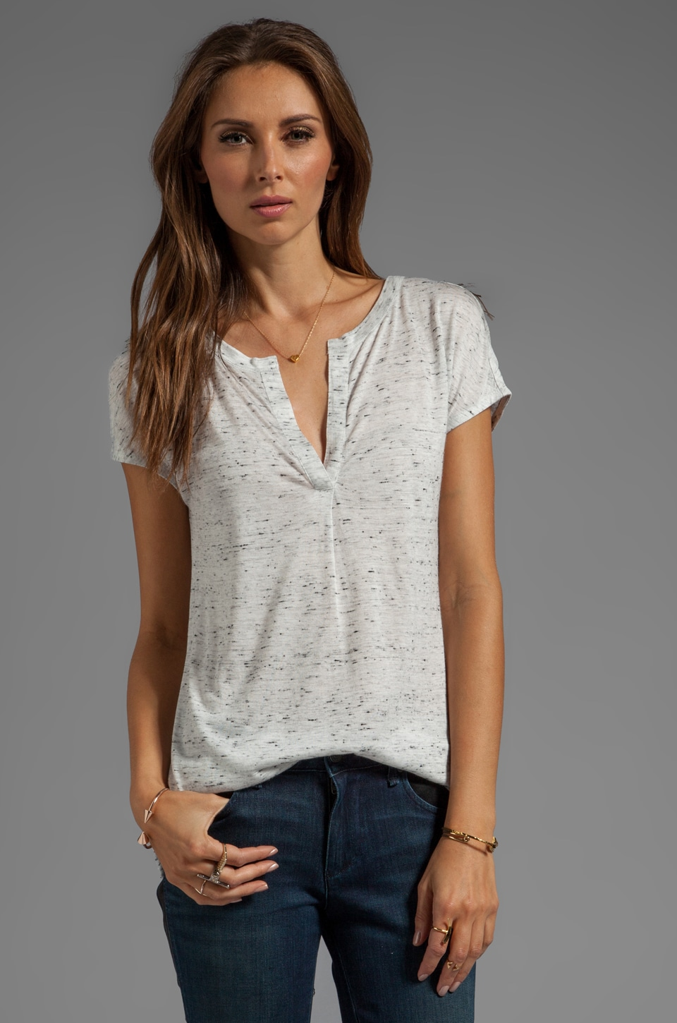 Marc by Marc Jacobs Alicia Jersey Top in Antique White Melange