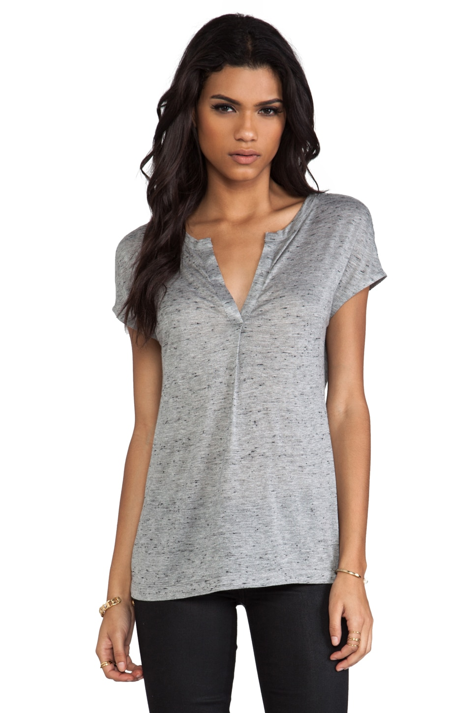 Marc by Marc Jacobs Alicia Jersey Top in Dapper Grey Melange
